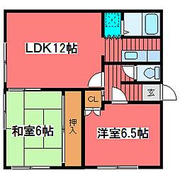 ニューハイツ菅谷[2階]の間取り