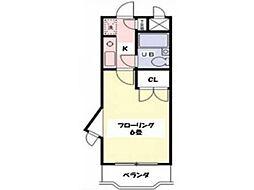 クリオ橋本ファースト[1階]の間取り