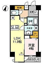 幸 Court tsurigane[8階]の間取り
