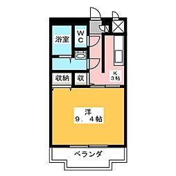 ユートピア垣鼻II[2階]の間取り