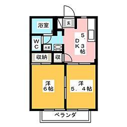 レーベンハイム鴻[2階]の間取り
