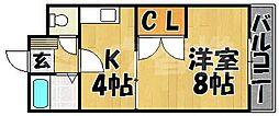 福岡県福岡市東区唐原5丁目の賃貸マンションの間取り