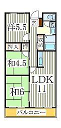 第二 千代田マンション[4階]の間取り