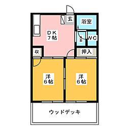 ハイツアミューズ[1階]の間取り
