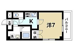 カネダマンション[4階]の間取り
