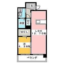 カサ・セグーラ田町[4階]の間取り