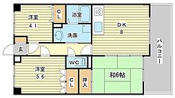 珈琲館マンション[402号室]の間取り