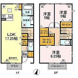 仮)D-room新田町[103号室]の間取り