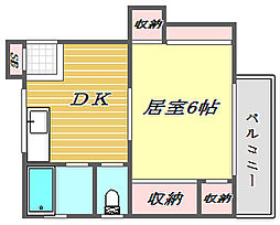 東京都北区堀船3丁目の賃貸アパートの間取り