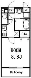 サン・カーサ115[205号室]の間取り