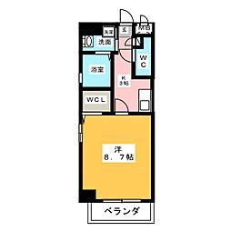 アルカンシェル名駅[3階]の間取り
