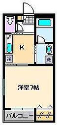 第8コーポサンフラワー[3階]の間取り