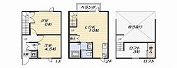 [テラスハウス] 神奈川県横須賀市小矢部2丁目 の賃貸【/】の間取り