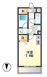 ベレーサ築地口ステーションタワー[6階]の間取り
