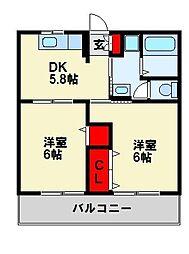 ページ元城[1階]の間取り