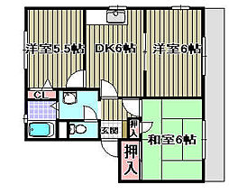 グランメール21 D棟[D101号室]の間取り