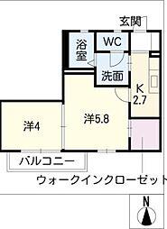 プランタン亀崎[2階]の間取り