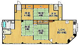 丸三マンション[3階]の間取り