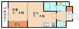 コスモ8II[6階]の間取り