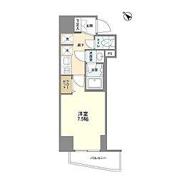 JR山手線 巣鴨駅 徒歩4分の賃貸マンション 5階1Kの間取り