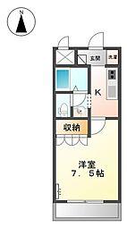 JR播但線 野里駅 3.4kmの賃貸アパート 1階1Kの間取り