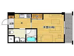仮)上賀茂デザイナーズマンション[303号室]の間取り