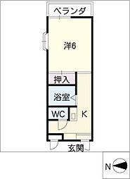 大島マンション廿軒家[3階]の間取り