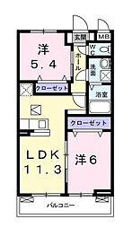 リゼオ湘南[1階]の間取り