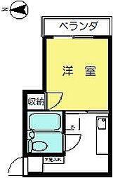 柴田ビル[201号室]の間取り
