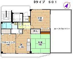 アズセナ[5階]の間取り