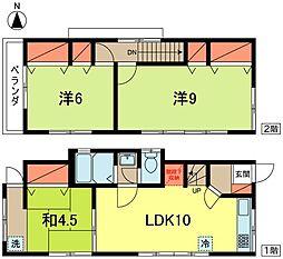 [一戸建] 東京都杉並区松ノ木3丁目 の賃貸【/】の間取り