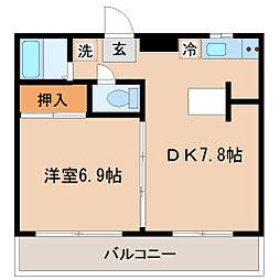 宮千代アベニュー[5階]の間取り