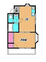 東京都小金井市前原町4丁目の賃貸アパートの間取り