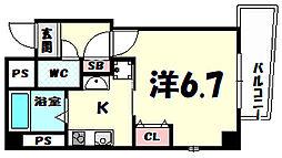ラ・フォンテ三宮旭[2階]の間取り