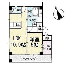 Crystal IslandーTatsumi 1階[102号室]の間取り