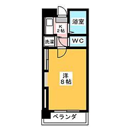 鏡ヶ池ハイツ[6階]の間取り