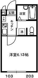 ロッシェル橋本6[2-203号室]の間取り