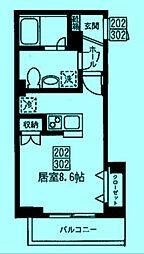 サンエクウス[2階]の間取り