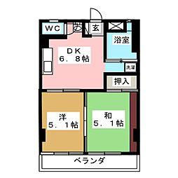 アツミコーポ[3階]の間取り