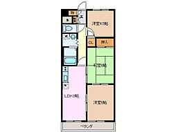 ベルウッド江場[1階]の間取り