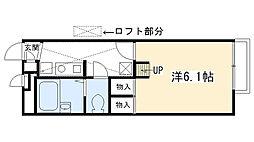 兵庫県西宮市段上町3丁目の賃貸アパートの間取り