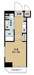 神奈川県横浜市中区弁天通6丁目の賃貸マンションの間取り