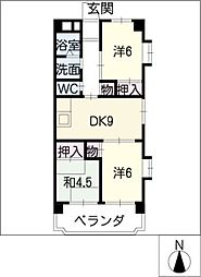 第2グリーンマンションHATTORI[2階]の間取り
