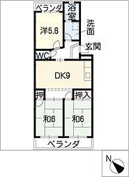 ハイドリームマンション[2階]の間取り