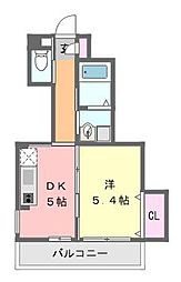 サンコート津田沼[1階]の間取り