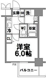 エスリード新大阪グランファースト[806号室]の間取り