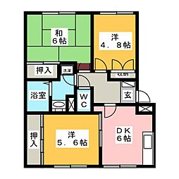 ミオプラザ21[1階]の間取り