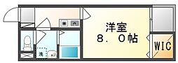 岡山県井原市上出部町の賃貸アパートの間取り