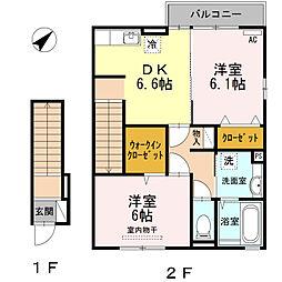 エレガンスI[2階]の間取り