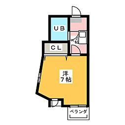プレスイン駒場[3階]の間取り